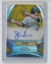 JUSTIN WILSON 2010 Bowman Sterling Gold Refractor AUTO Rookie #/50