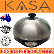 Electric Egg Boiler 7 Egg Stainless Steel Automatic Soft Hard Illuminated Switch