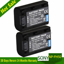 2x Battery for SONY NP-FH50 NP-FH60 NP-FH40 NP-FH30 Digital Camera Camcorder UK