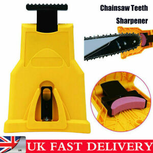 Woodworking Chainsaw Teeth Sharpener Blade Bar Mount Sharpening Tool W/Stone UK
