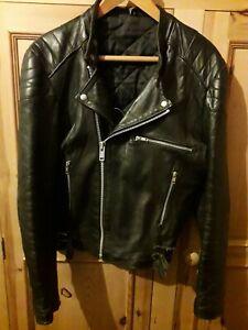 Vintage Leather Biker Jacket Size 40 - Cafe Racer - Punk - Brando - Rock - Indie