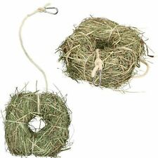 2PkSmall Animal Boredom Breaker Treat Rabbit Guinea Natural Alfalfa Hay Ring