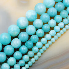 Natural Amazonite Gemstone Round Spacer Loose Beads 15.5