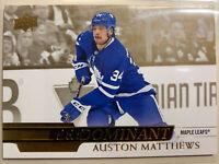 2020-21 UD Series 1 GOLD PreDominant Auston Matthews SSP Maple Leafs CASE HIT