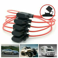 Car Fuseholder Splash-proof In-line 12V 30A Power Blade Fuse Holder Mini 5Pcs