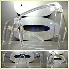 Men or Women VINTAGE RETRO Style Clear Lens EYE GLASSES Transparent & Gold Frame