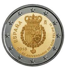 manueduc   ESPAÑA   2018   2 EUROS  50 ANIVERSARIO DEL REY FELIPE VI  UNC
