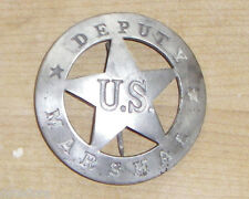 DEPUTY US MARSHAL  BADGE WITH PIN BACK SHERIFF POLICE WESTERN