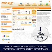 Ebay store and Listing Template design, auctiva, inkfrog, video tutorial