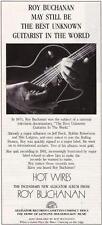 "1987 ROY BUCHANAN ""HOT WIRES"" ALBUM PROMO AD"