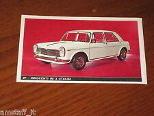 INNOCENTI IM 3=FIGURINA=1965/66=ALBUM FIGURINE AUTOMOBILI D'OGGI