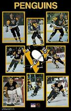 1989 Pittsburgh Penguins Collage Original Starline Poster OOP