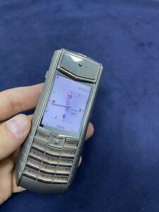 Original Brand Vertu Ascent Ti Red/Black Unlocked, Cellular Phone, Stylish