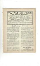 West Bromwich Albion v Arsenal 1935/36 Football Programme