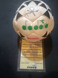 Roberto Baggio Autographed DIADORA SOCCER BALL 1996 - WITH COA - ONLY 100 SIGNED