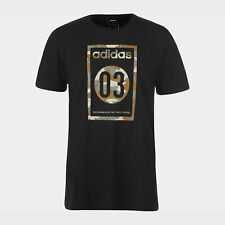 adidas Mens 03 Camo T Shirt Black Grey