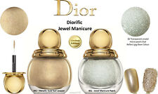 Dior Couture Diorific Ltd Ed Jewel Manicure Duo Gold Vernis & 'Caviar' Pearl Set