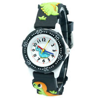 Kids Watches Boy Fashion Dinosaur Children Cartoon Watch Black Strap Wristwatch