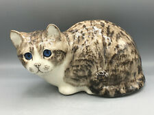 More details for :# new winstanley tabby cat size 5 signed glass blue eyes