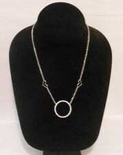 Sterling Silver 925 Zirconia CIRCLE of Life Pendant Necklace A Great Gift Idea!