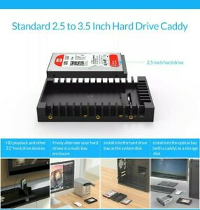 "2.5"" to 3.5""  7/9.5/12.5mm HDD Hard Drive Adapter Converter Mounting Frame Tray"