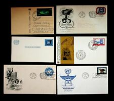 UN 1951-77 3c REG STAMP/ JAPANESE PEACE BELL 4 FDC+ USED+ UNUSED 2 PS CARDS