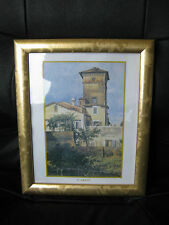 SMALL PRINT IN ATTRACTIVE GOLD COLOURED ~ FRAME ~ CAROT ~VGC