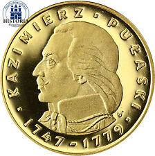 Polen 500 Zloty Gold 1976 PP Goldmünze Kazimierz Pułaski / Casimir Pulaski