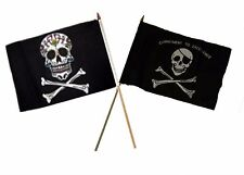 "12x18 12""x18"" Wholesale Combo Pirate Sugar Skull & Commitment Stick Flag"