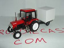 """MTZ-82 with the trailer Russian tractor """"Belarus"""" 1/43 scale model. New model"""