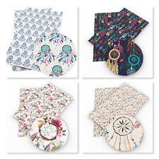 Faux Leather - Leatherette Fabric Sheets - Dreamcatcher 20cm x 34cm per sheet