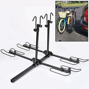 "4-Bike Platform Style Bicycle Rider Hitch Mount Carrier Rack Sport Receiver 2"""