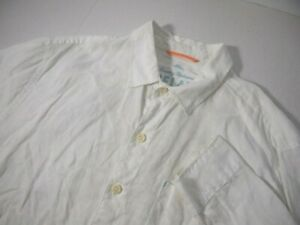 Tommy Bahama Relax Mens Shirt L 100% Linen Solid White Long Sleeve Button