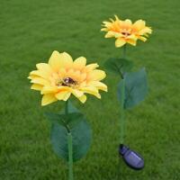 Solar Power LED Simulation Sunflower Light Waterproof Garden Landscape Lamp
