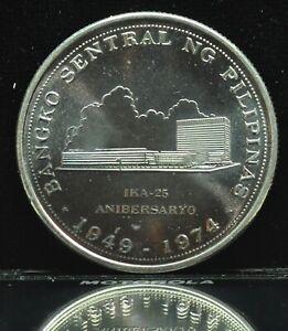 1974 Bangko Sentral Ng Pilipinas 25 Piso Silver Coin - lot#1