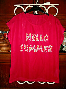 """Damen - Shirt """" Hello Summer """" herrlich luftig und leicht   Gr. 44"""