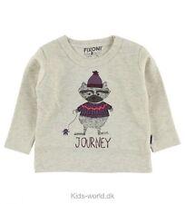 Fixoni Bebé Niñas Animal Lindo Blusa Camisa Top de Calidad de viaje 6 meses Bnwt Gris