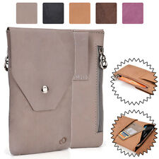 Universal Genuine Leather Vertical Protective Phone Sleeve Pouch Case Cover MO13