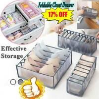 Foldable Underwear Storage Box Compartment Underpants Bra Organizer Drawer New