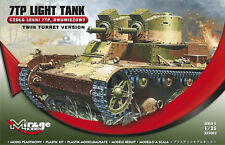7 TP LIGHT TANK TWIN TURRET VERSION, MIRAGE HOBBY 355002, SCALE 1/35