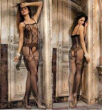 Bodystocking catsuit nera mutandina sexi calze lingerie sexy intimo donna regalo