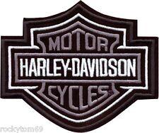 Harley-Davidson® Bar & Shield Patch Silver XS EMB302541 NEW!