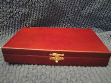 Decorative Small Wooden Ring Trinket Holder Box Jewelry Organizer, Awards, Coins
