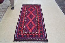 New Afghan Tribal Reversible Kilim Rug Hand Woven 6'6x3' Wool Carpet Kelim #3915