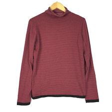 Title Nine Womens Size Medium Long Sleeve Turtlneck Sweater Top Striped