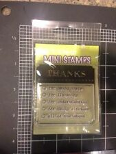 Thanks for... Inkadinkado Clear mini Stamps - being there, listening, friend all