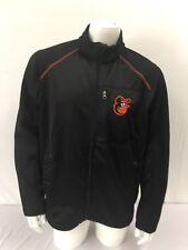 Baltimore Orioles L Windbreaker Jacket Full Zip  Black Orange GIII Carl Banks