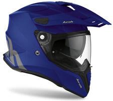Motorcycle Helmet Motard Enduro off Road Airoh Commander Progress Blue Blue Matt