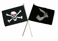 "12x18 12""x18"" Wholesale Combo Pirate Red Eyes Skull & Thomas Tew Stick Flag"