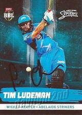 ✺Signed✺ 2016 2017 ADELAIDE STRIKERS Cricket Card TIM LUDEMAN Big Bash League